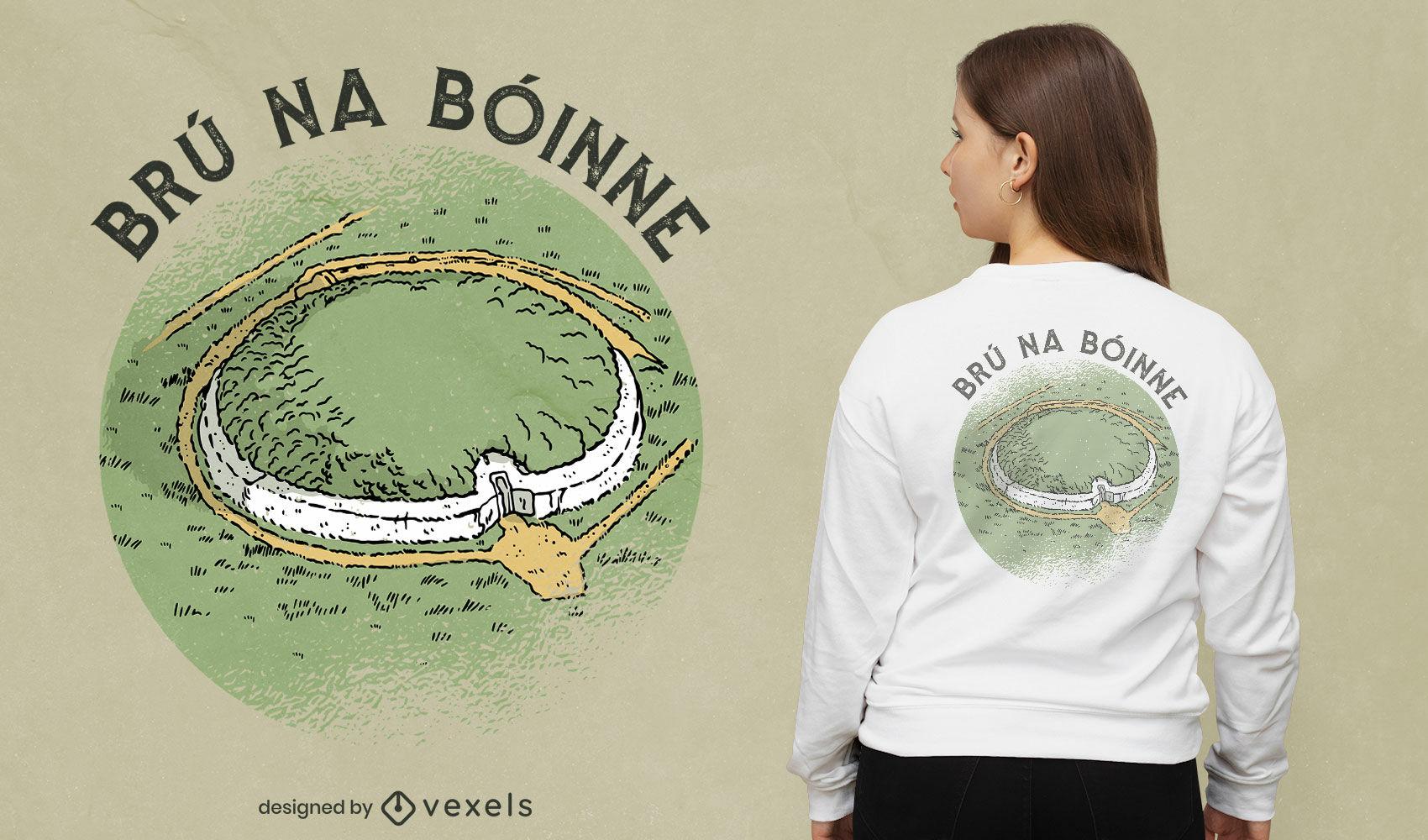 Irish landmark Newgrange t-shirt design