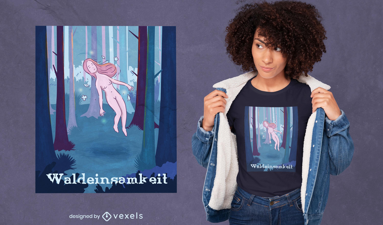 Dise?o de camiseta de bosque de Waldeinsamkeit
