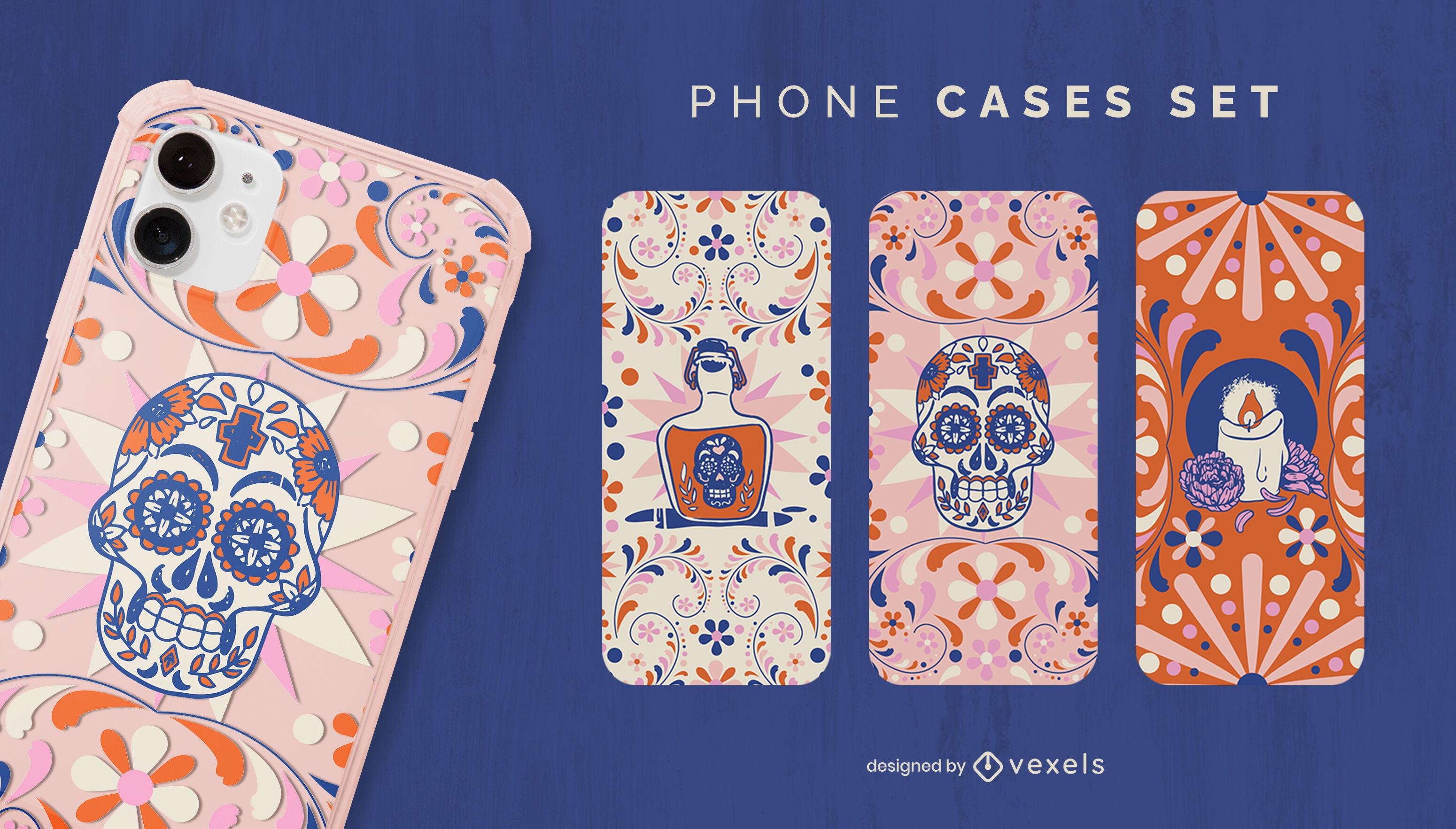 Design da capa do telefone morto
