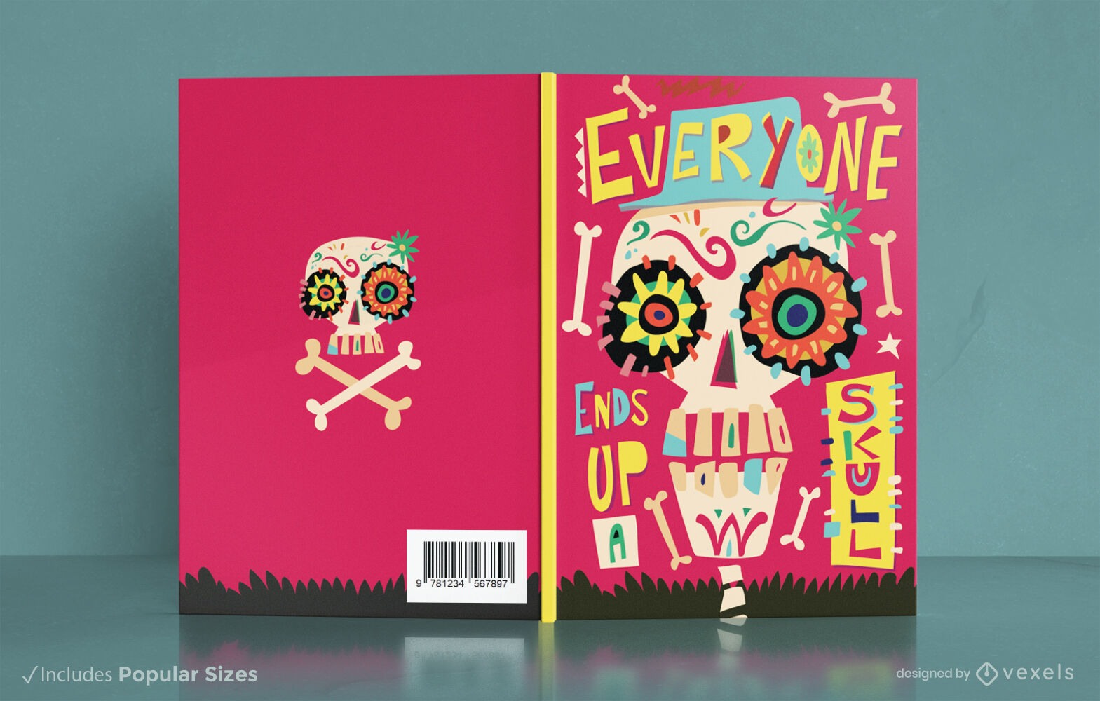 Day of the dead sugar skull cover design