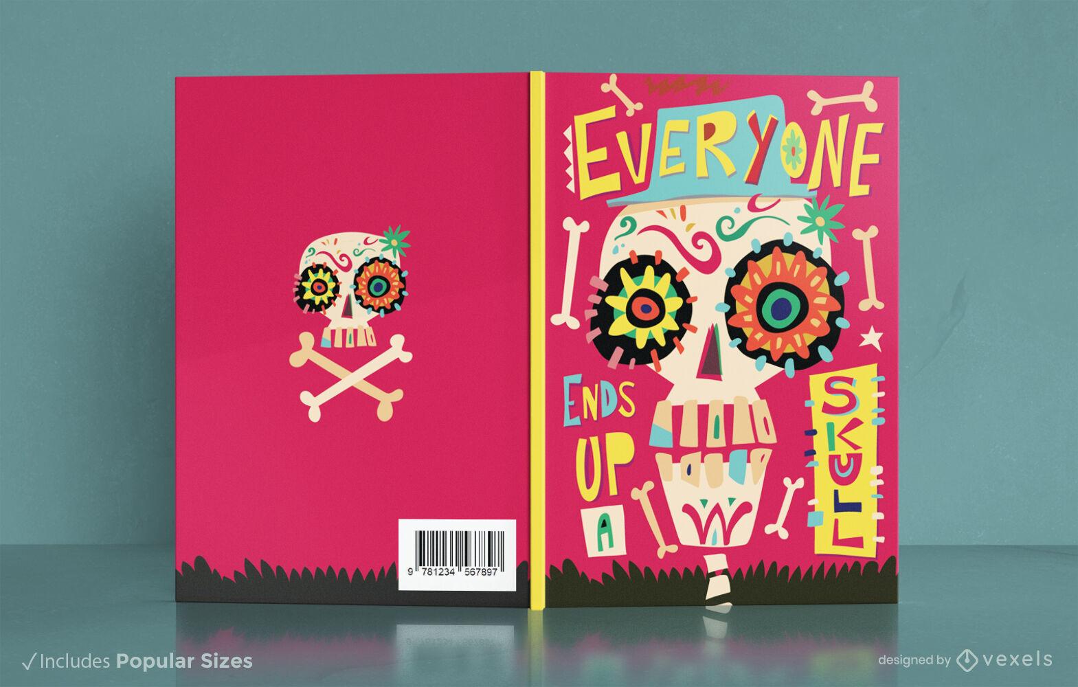 Tag der toten Zuckerschädel-Cover-Design
