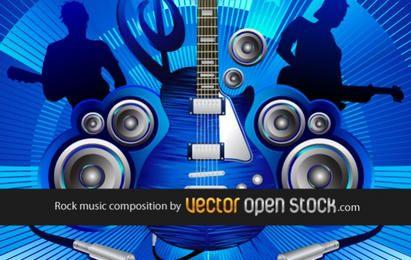 Composição de música rock azul