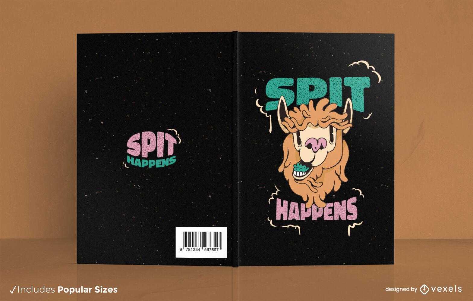 Lama-Tier-Cartoon-Buchcover-Design