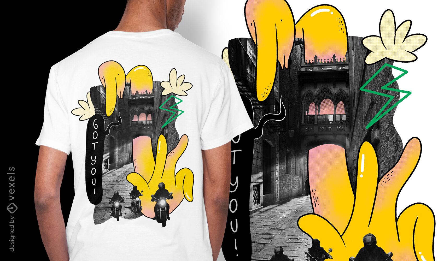 Design de camiseta gigante amigável
