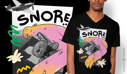 Süßer Riese im T-Shirt-Design der Berge