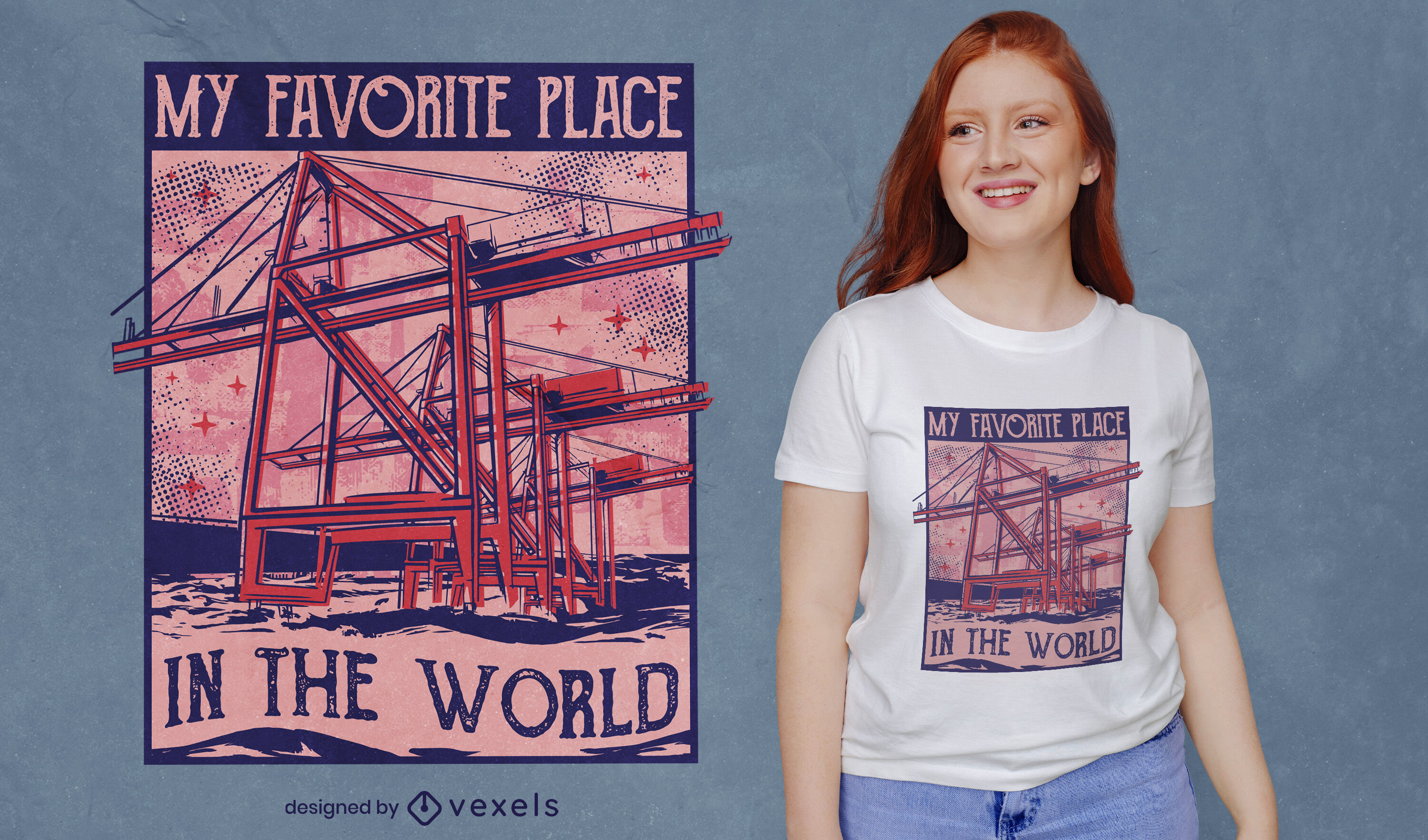 My place in the world t-shirt design