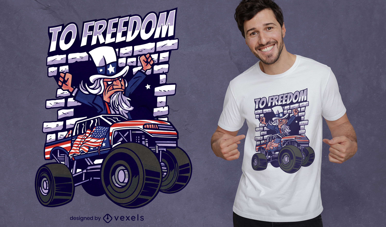 Funny Uncle Sam freedom t-shirt design
