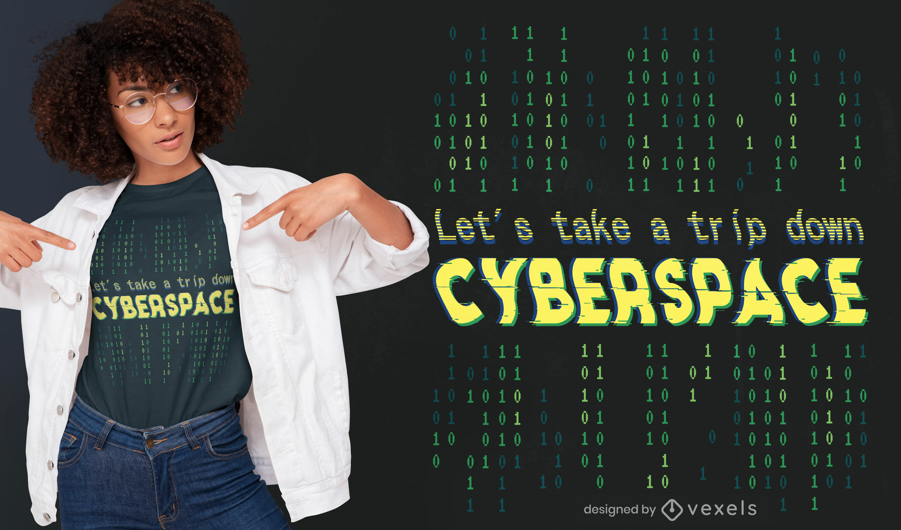 Cyberspace quote t-shirt design