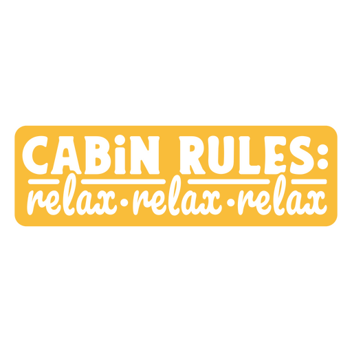 Cabin rules quote cut out