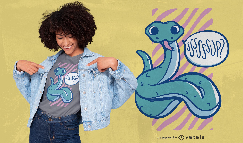Cute snake t-shirt design