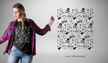 Projeto do t-shirt do teste padrão do punk rock