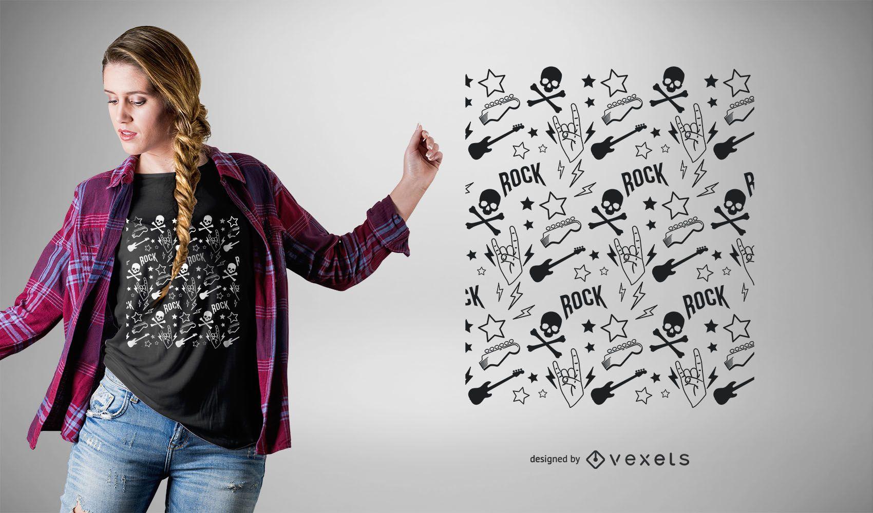 Diseño de camiseta Punk Rock Pattern