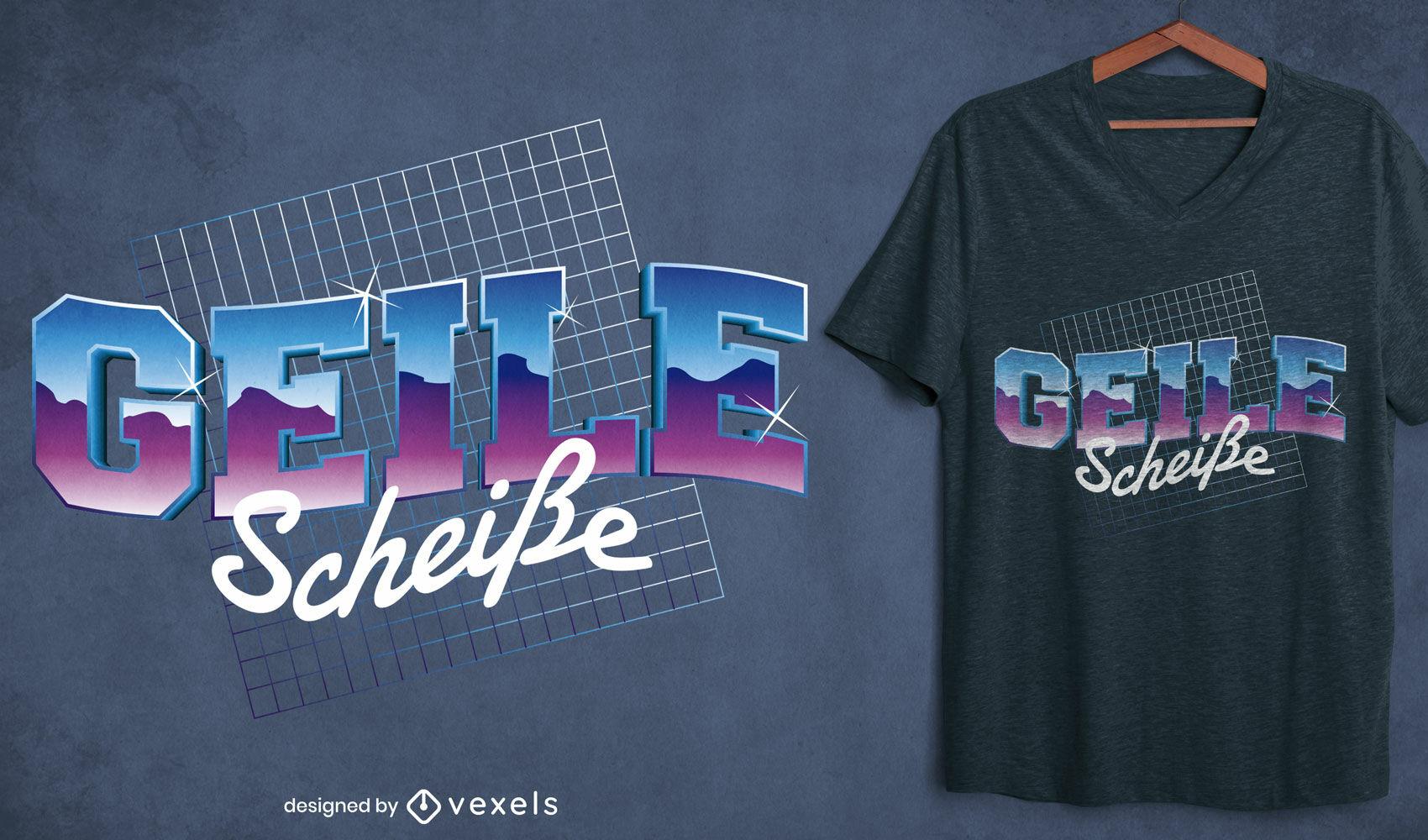 German quote vaporwave t-shirt design