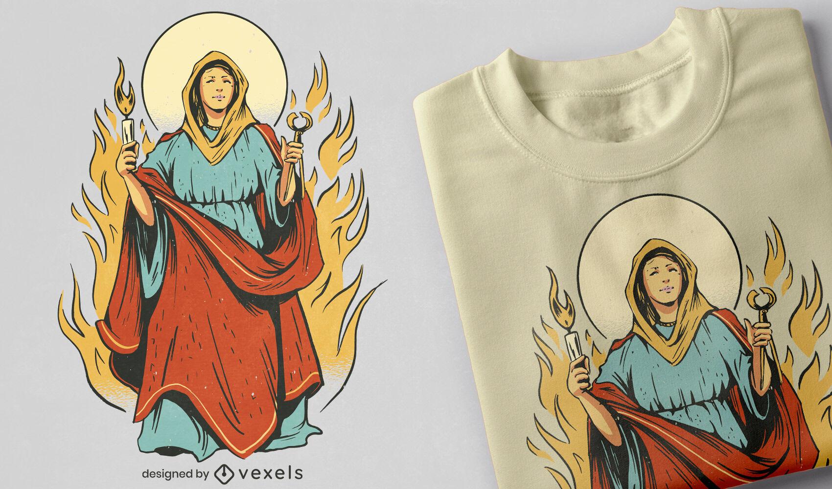 Agatha of Sicily t-shirt design