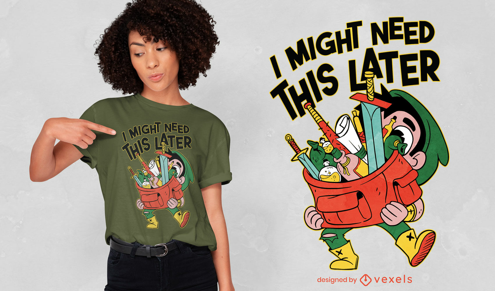 RPG Player items t-shirt design
