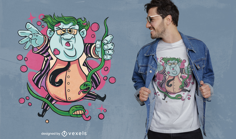 Design da camiseta do Dia das Bruxas Matt Foley