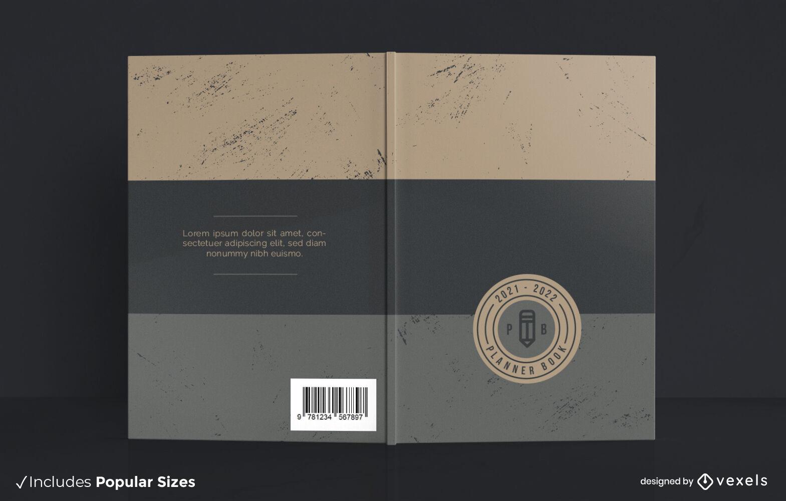 Planer-Cover-Design f?r horizontale Linien