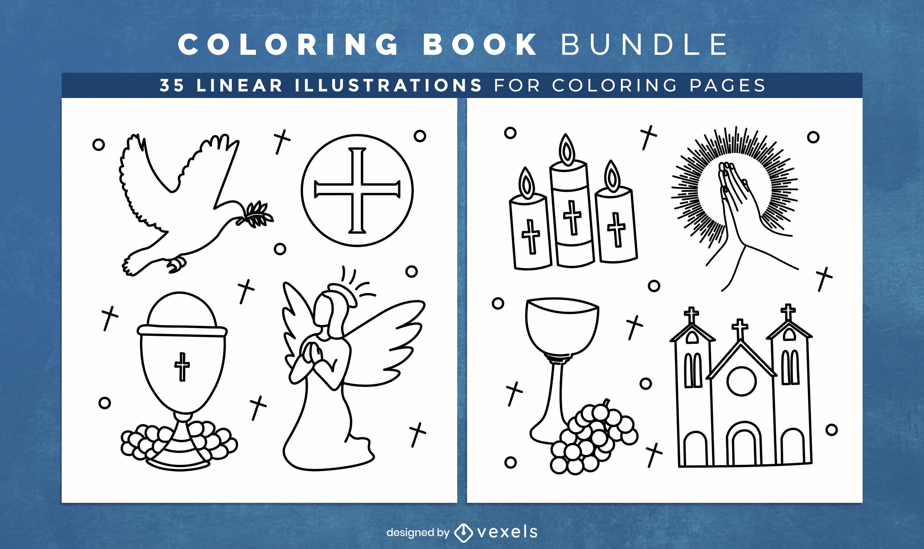 Páginas cristianas de diseño de libros para colorear