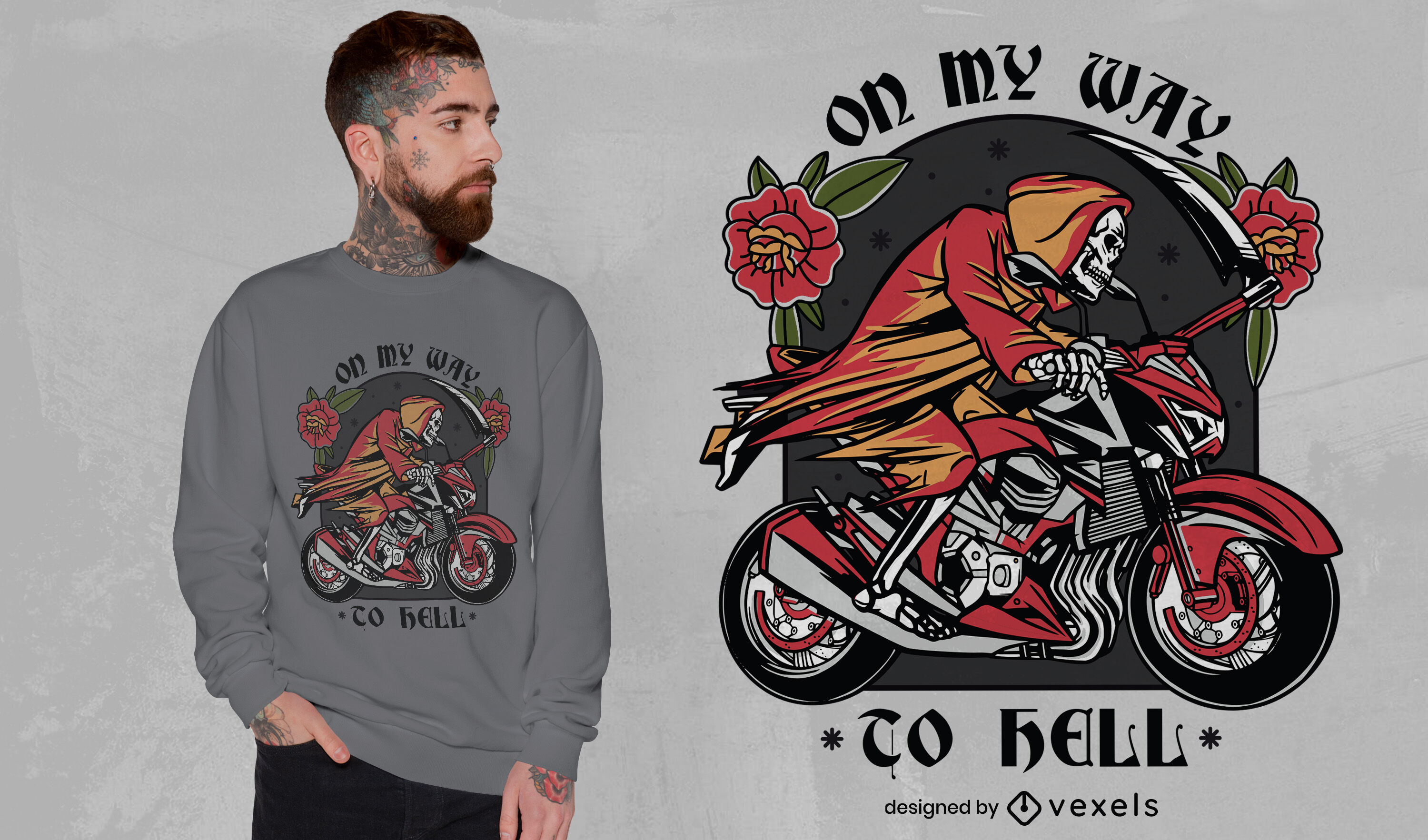 Way to hell t-shirt design