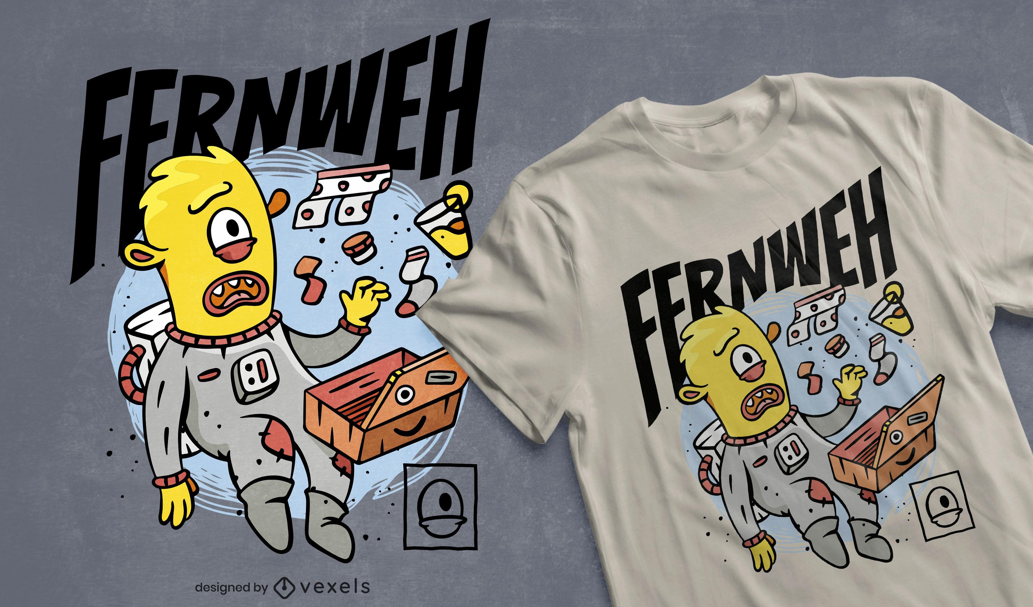 Travelling alien t-shirt design