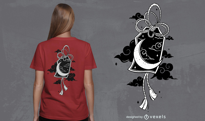 Japanese moon t-shirt design