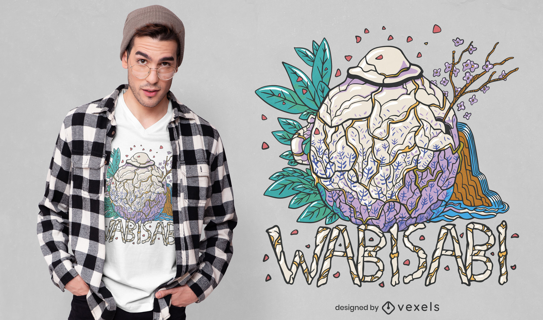 Design adorável de t-shirt wabi sabi