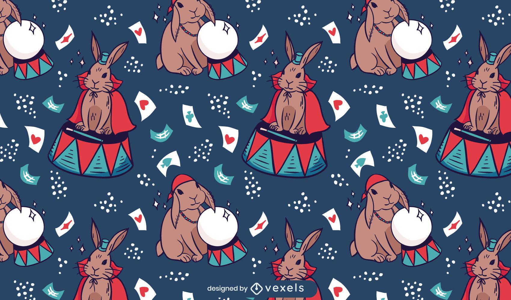 Circus rabbit animals pattern design