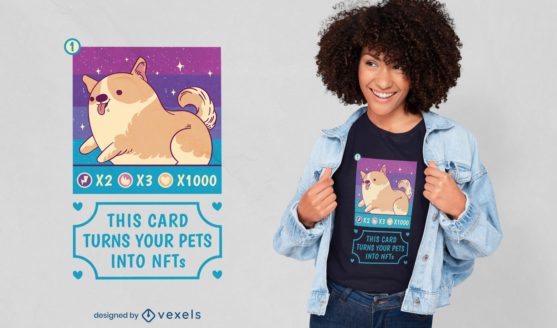 Cute NFTs pet t-shirt design