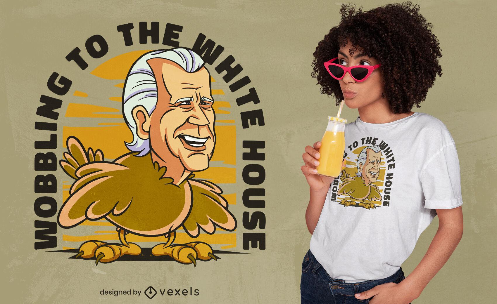 Dise?o de camiseta de parodia de pol?tico de Turqu?a.