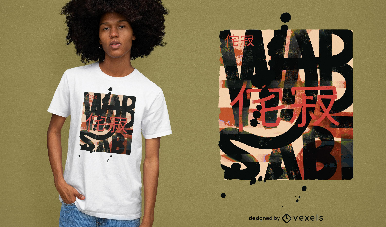 Design de camiseta japonesa Wabi sabi