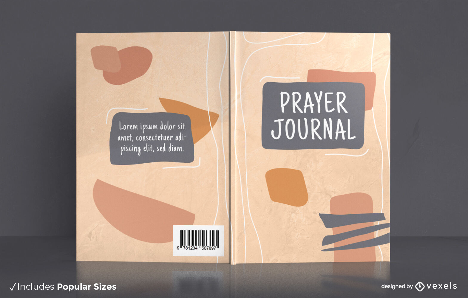 Abstract shapes prayer journal cover design