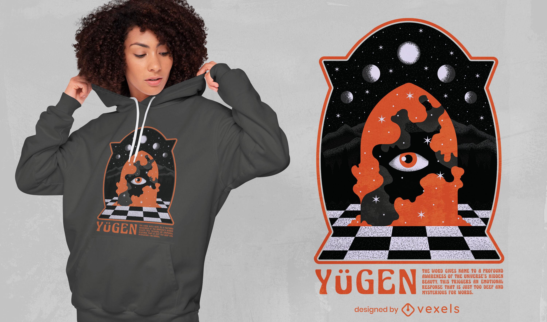 Diseño de camiseta de fantasía de ojo místico.