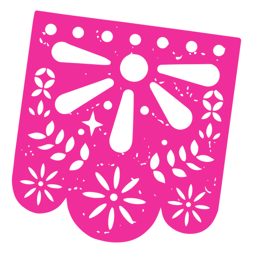 Day of the dead fucsia pennant papel picado