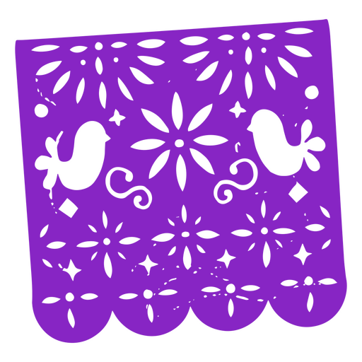 Day of the dead violet pennant papel picado