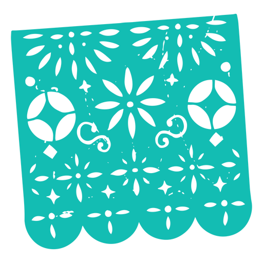 Day of the dead sky blue pennant papel picado