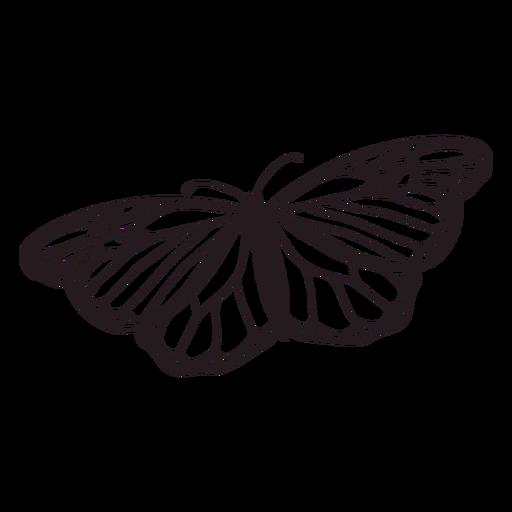 Day of the dead beautiful monarch butterfly filled stroke