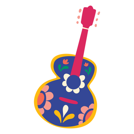 Day of the dead guitar flat