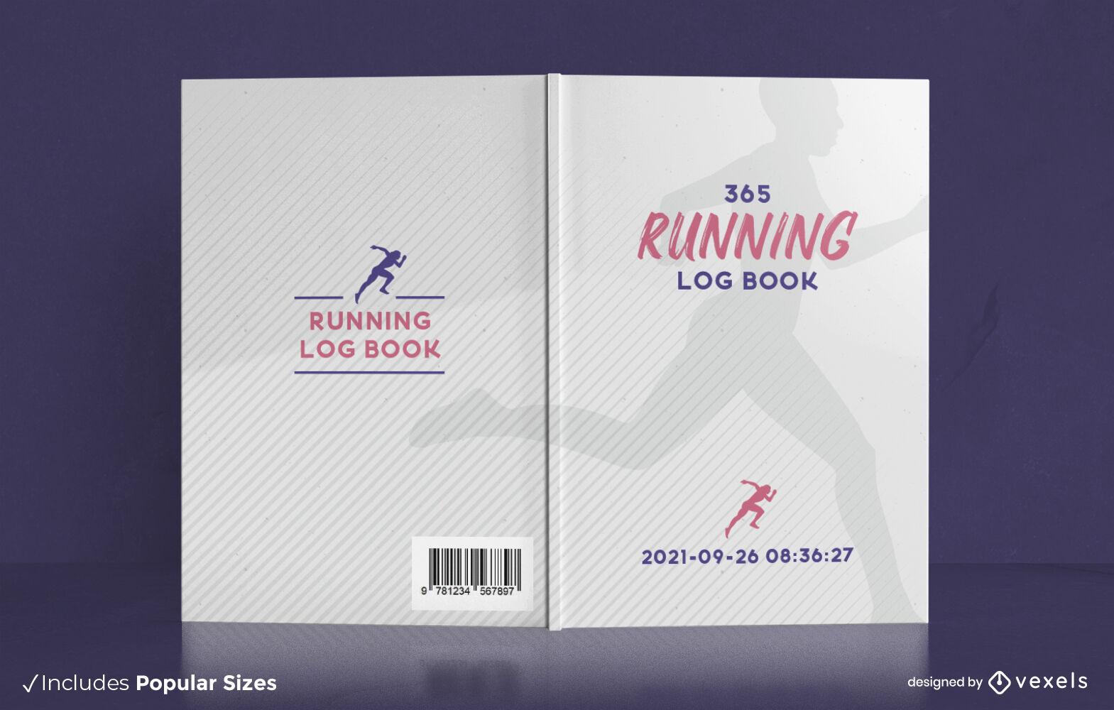 Simple running log book cover design