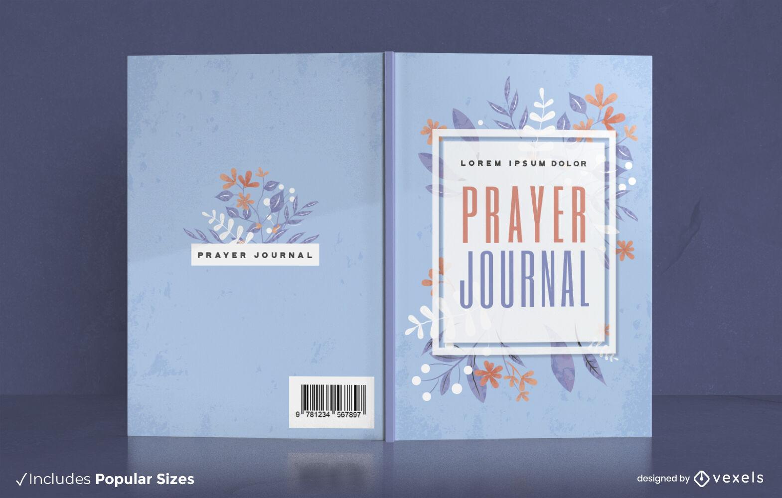 Gebetbuch Aquarell Blumen-Cover-Design