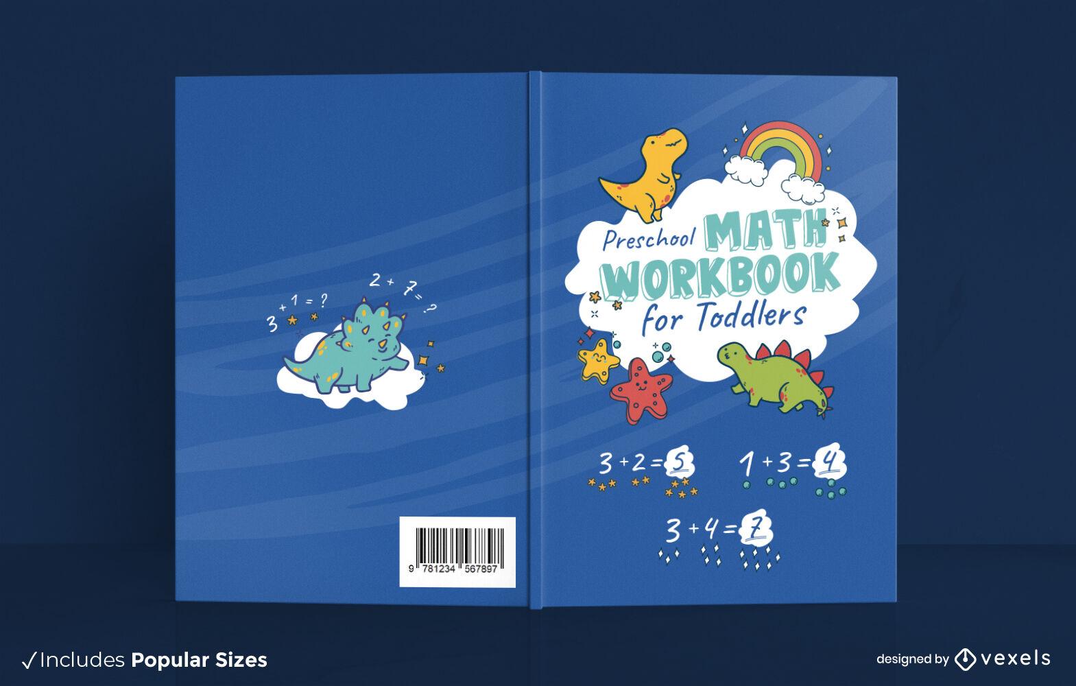 Lindo design de capa de livro de matemática
