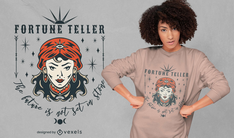 Fortune teller tattoo t-shirt design