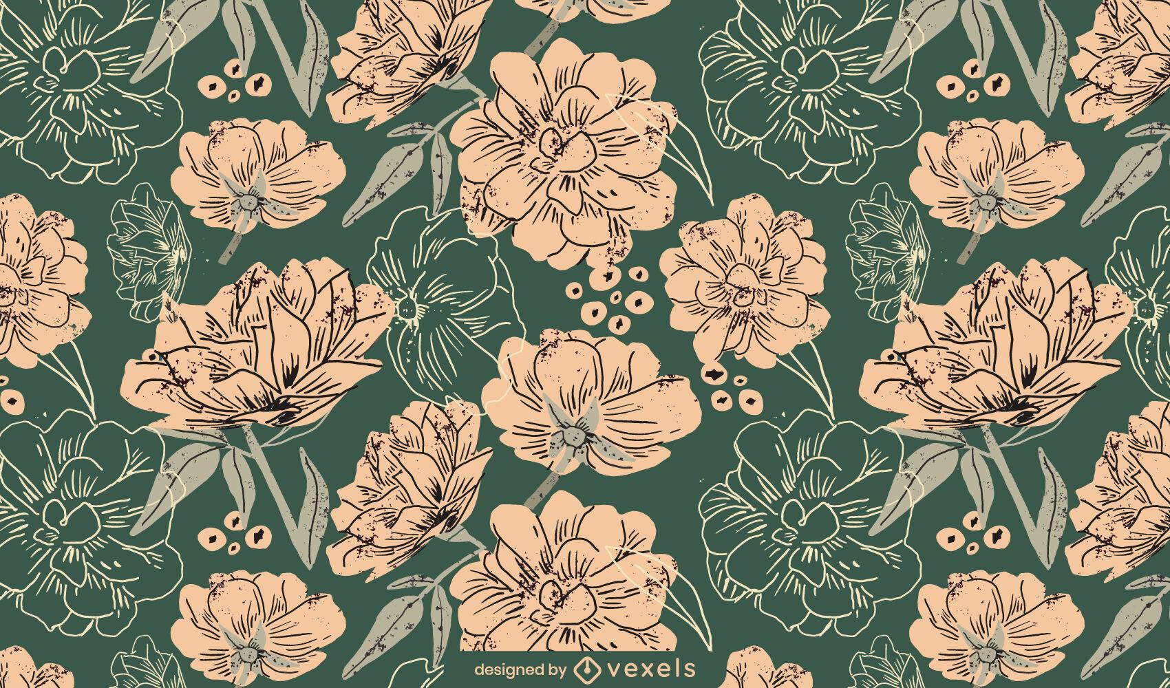 Frühlingsblumen Natur Musterdesign