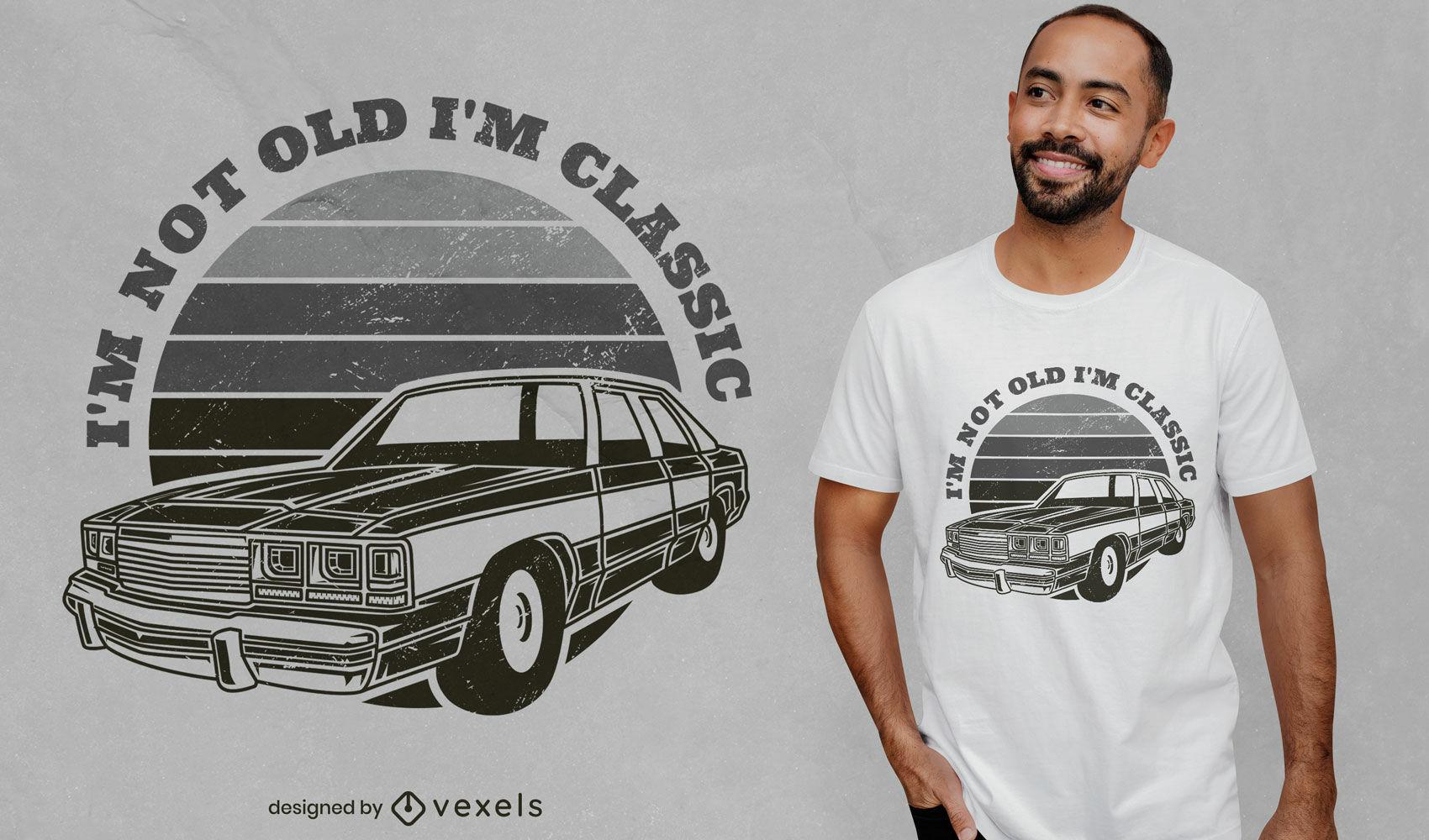 Design de t-shirt de transporte de carro antigo