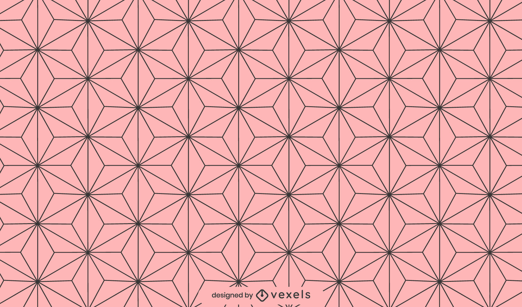 Asanoha leaves geometric pattern design
