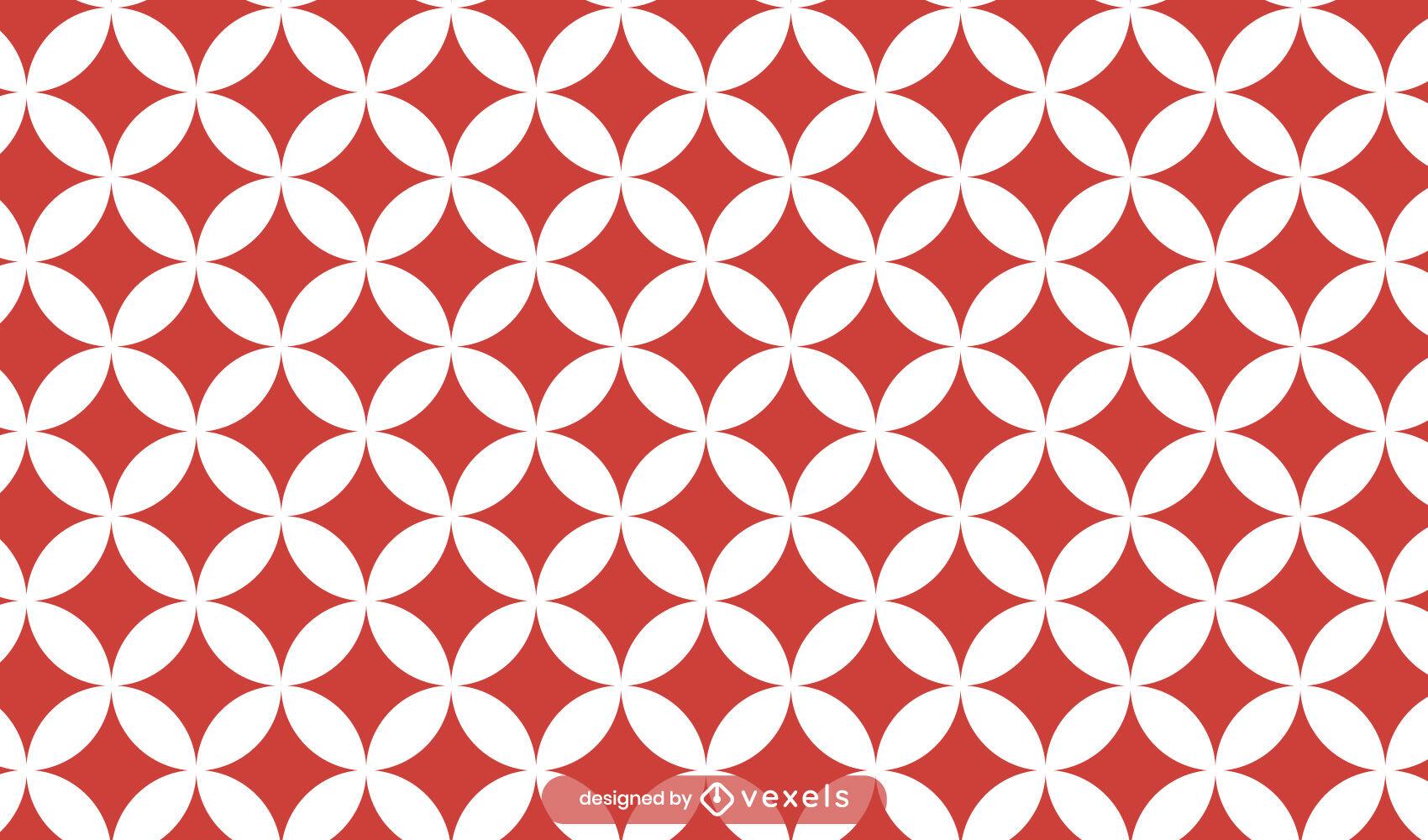 Design de padrão tradicional japonês vermelho shippo