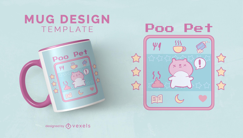 Digital pet squirrel animal game mug design