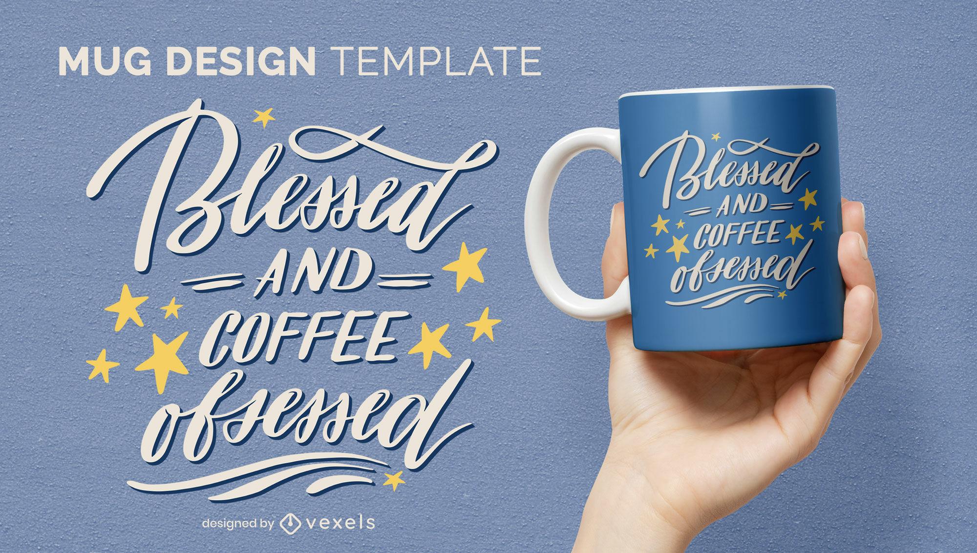 Motivational coffee quote mug design
