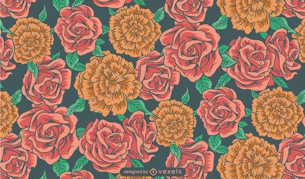 Rose garden flower nature pattern design