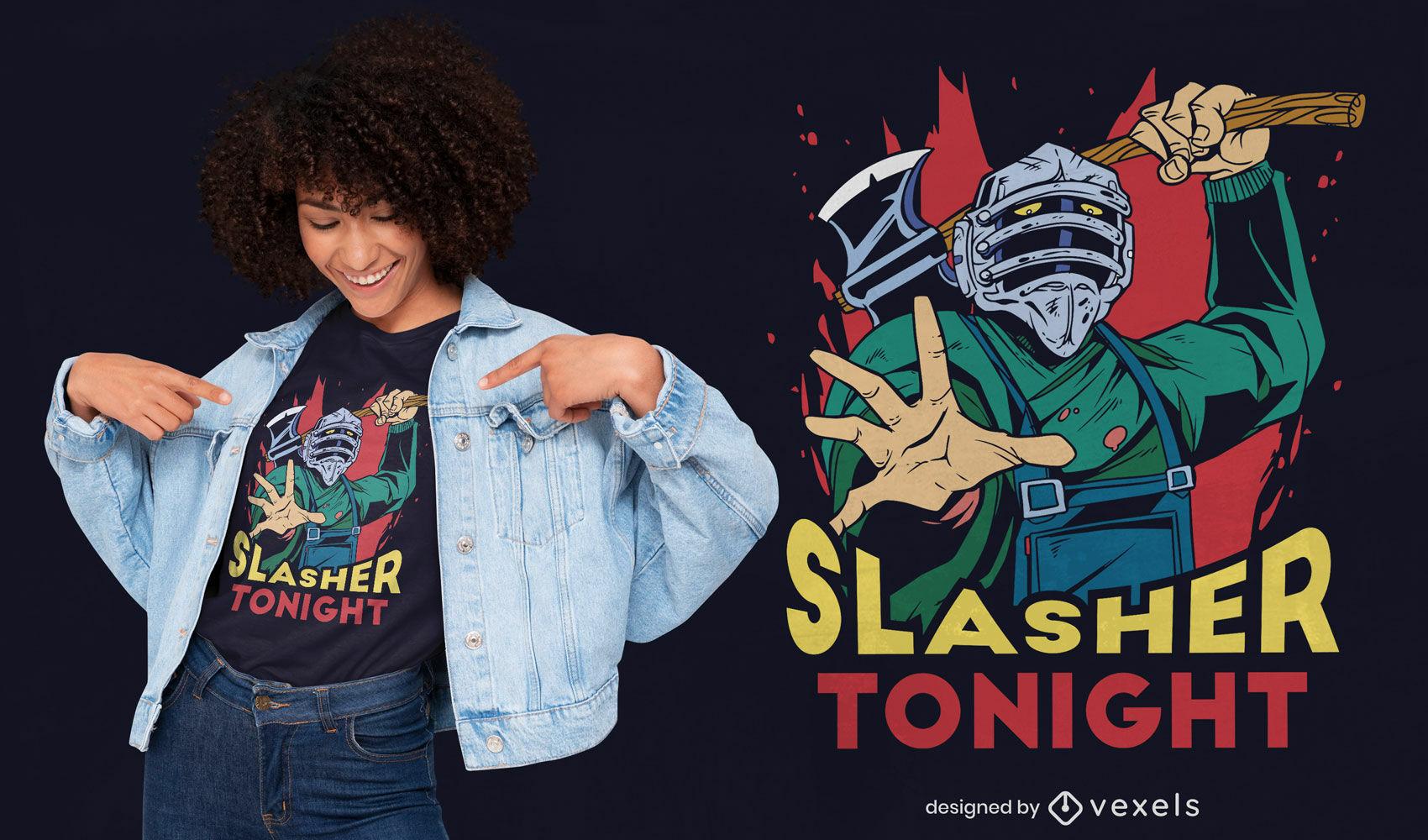 Killer mit Axtwaffe T-Shirt Design
