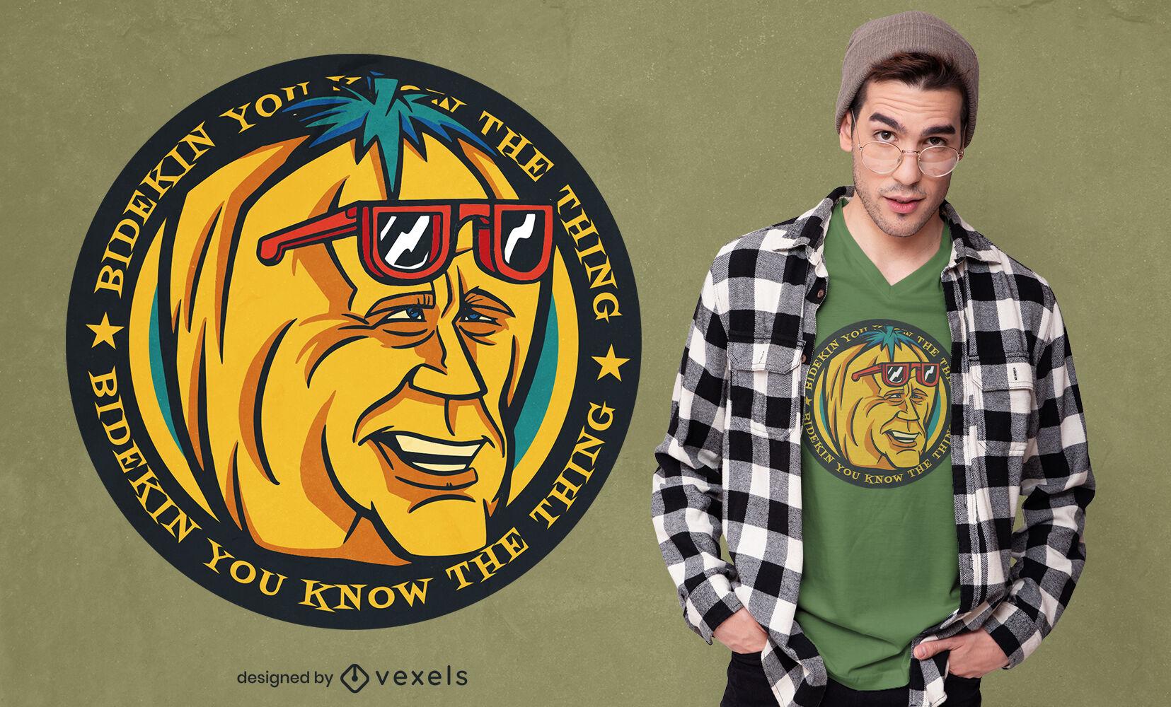 Biden-Kürbis-Parodie-T-Shirt-Design